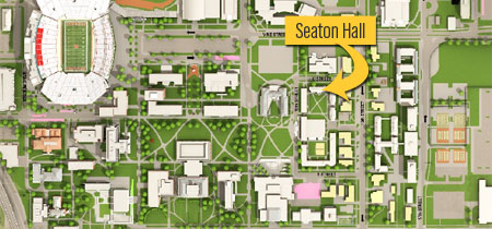 Map of Seaton Hall